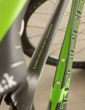 Litespeed proudly displays the type of carbon featured in the frame
