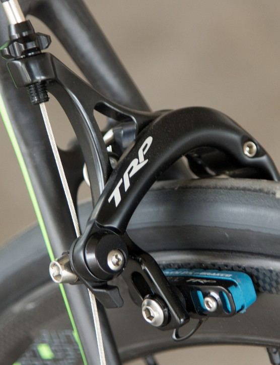 TRP single bolt calipers don't offer the same performance as their Shimano counterparts