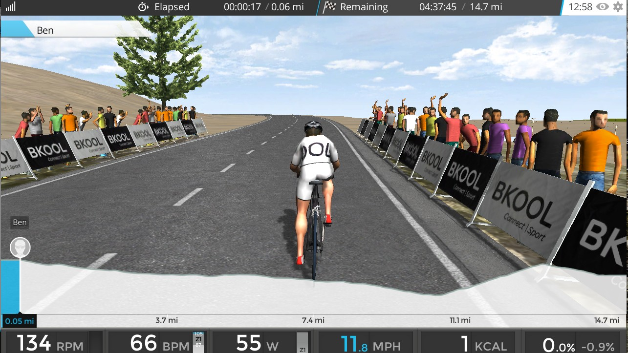 Bkool's Pro Trainer interacts with its Simulator software, adding resistance the faster you pedal, or the steeper the virtual climb