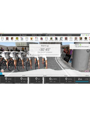 One key to virtual riding, in our opinion, is the social or multiplayer aspect. With many of the riders in the Bkool community in Spain (where the firm was founded), riding on Spanish time makes it more likely that you'll have company