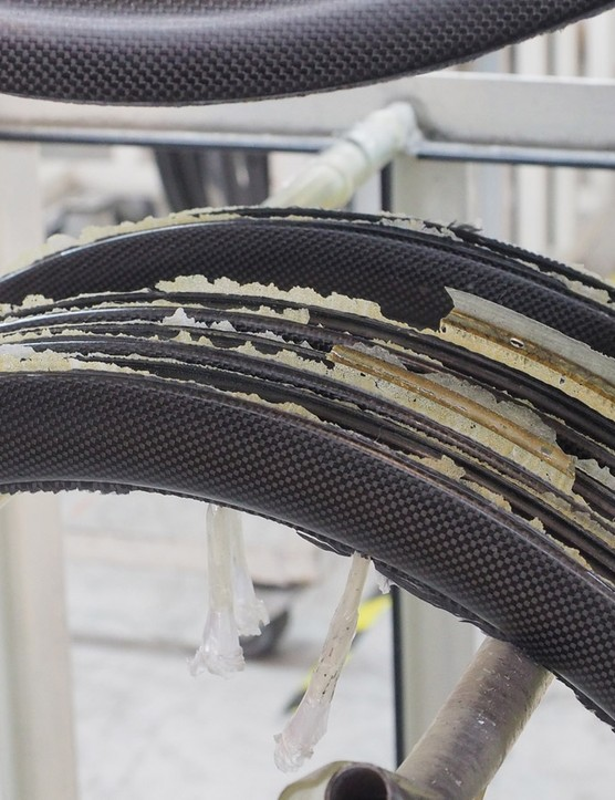 Nanotubes are used to reinforce the epoxy resin in some carbon fibre frames and components