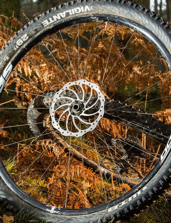 The Oozy 295 wheelset might provide a lighter option if you're not riding as aggressively