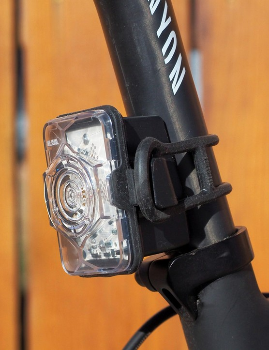 See.Sense's front and rear safety flashers aren't just bright; they automatically adjust their brightness and flashing patterns based on surrounding conditions and your own movement
