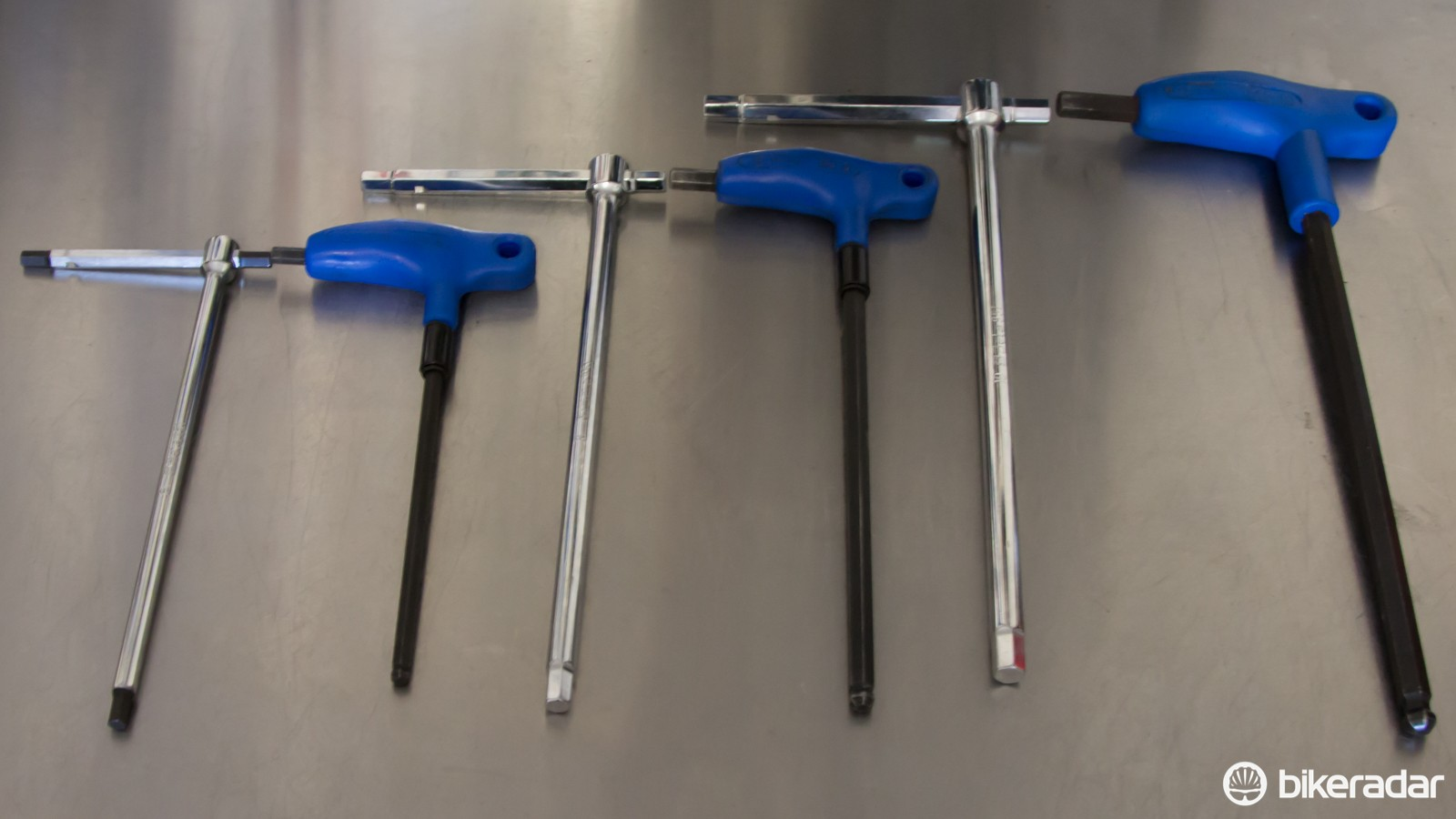 A size-for-size comparison with the popular Park Tool P-handle wrenches