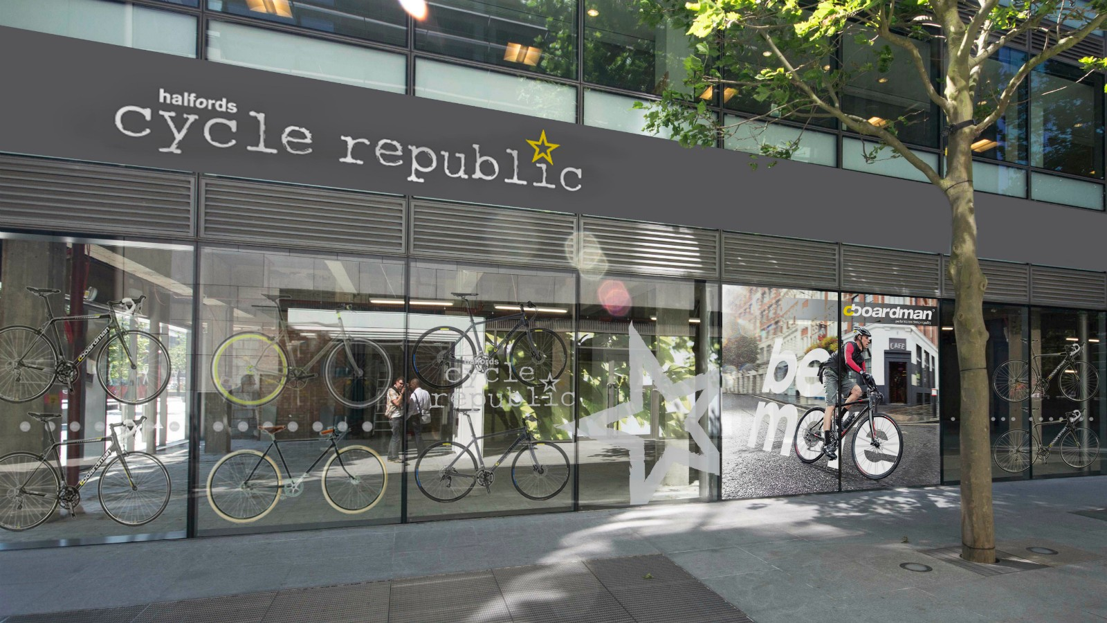 Halfords' new Cycle Republic store opened in London today