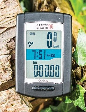 The Cateye Stealth 10 delivers basic GPS functionality at a good price