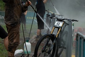 It's common in mountain biking and cyclocross racing to see the use of pressure washers — just beware that these can do plenty of harm to delicate areas of your bike
