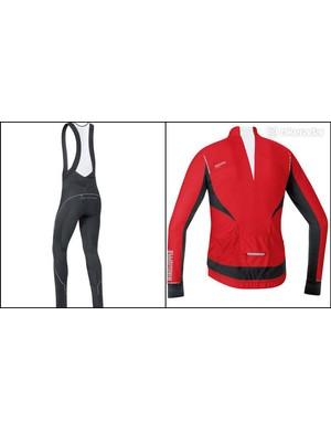ore Oxygen Windstopper jersey and Oxygen Windstopper Softshell+ bibtights back