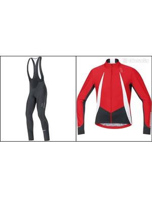 ore Oxygen Windstopper jersey and Oxygen Windstopper Softshell+ bibtights front