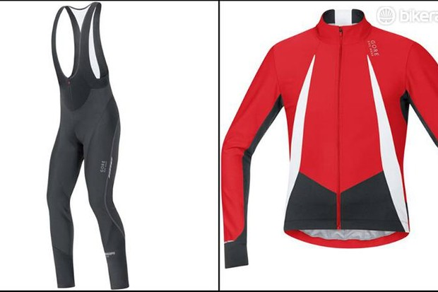 ore Oxygen Windstopper jersey and Oxygen Windstopper Softshell+ bibtights front
