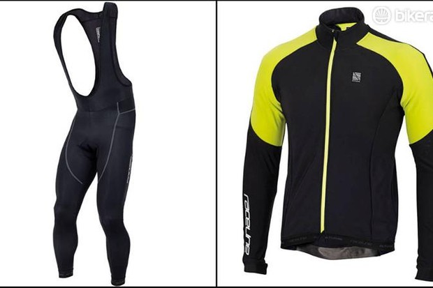 Altura Raceline LS jersey and Progel bib tights front, Altura Raceline LS jersey and Progel bib tights front