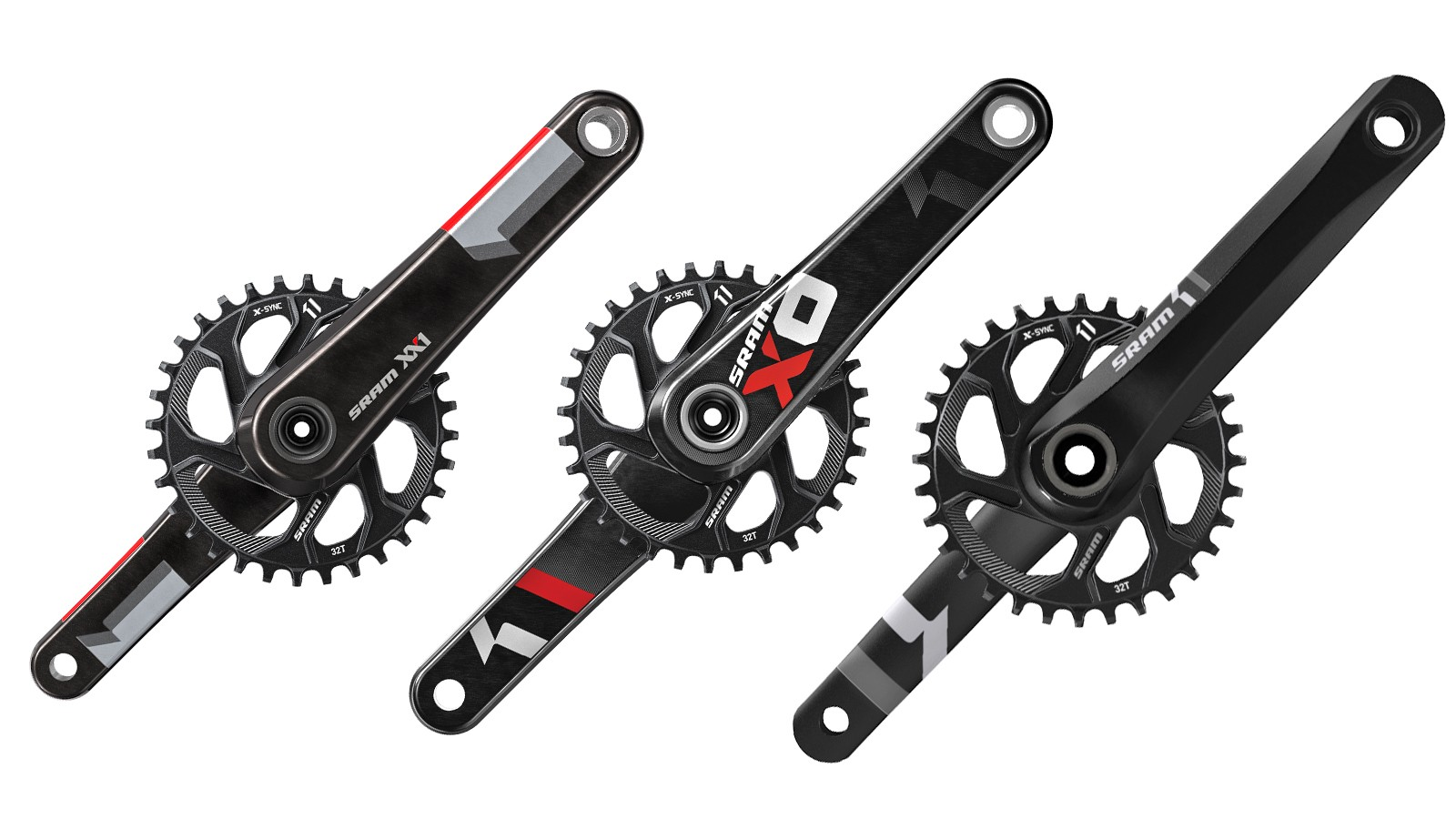 The new SRAM direct-mount X-SYNC chainrings are compatible with XX1, X01 and X1