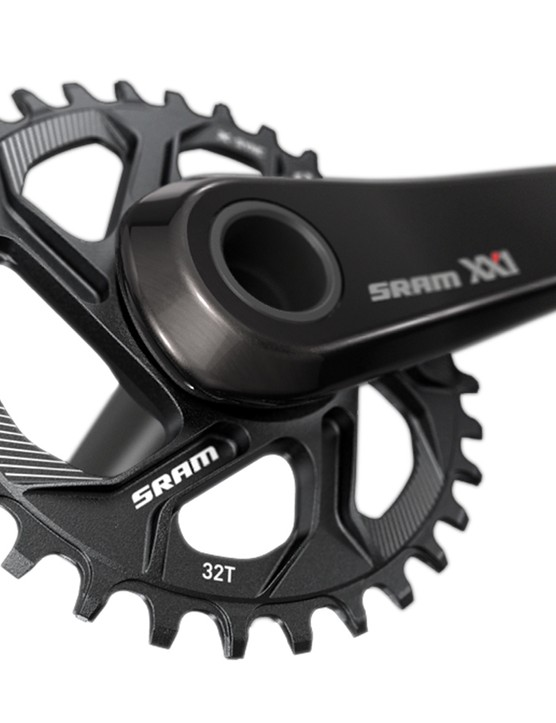 SRAM's direct-mount chainrings for its 1x11 mountain groups increase gearing options and decrease weight