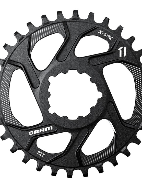 SRAM will offer its direct-mount X-SYNC chainrings in even tooth counts from 26-40t