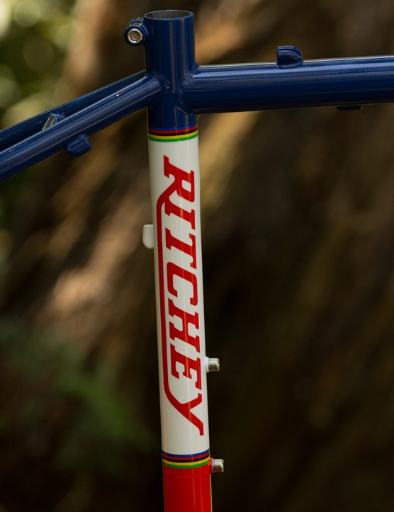 The red/white/blue colours are a tribute to the old Ritchey racing team