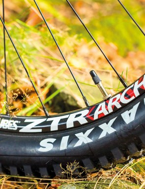 Upgraded Stan's Arch rims are a bit narrow – we'd opt for the Flow instead