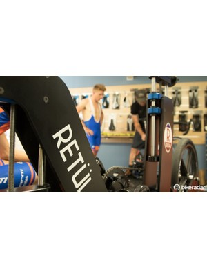 There's plenty of Retül fitting equipment at The Watts Factory