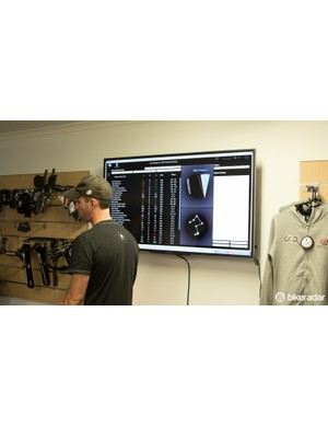 The Retül Motion Capture fitting system enables Mason to take measurements in quick time