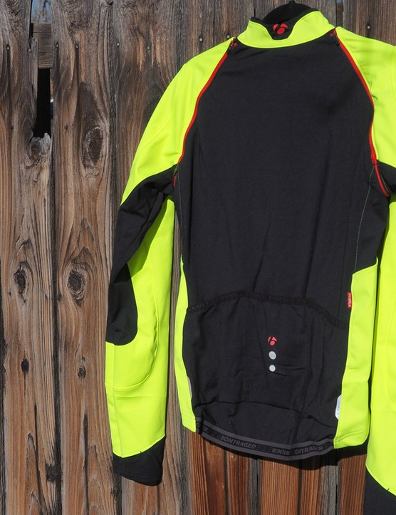 Whereas Bontrager outfits the front and sleeves of the RXL Convertible 180 softshell jacket with windproof and water-resistant fabrics, the back uses a more breathable material to help excess heat escape