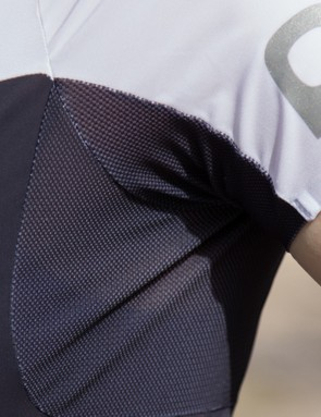 Mesh under the arms provides additional ventilation