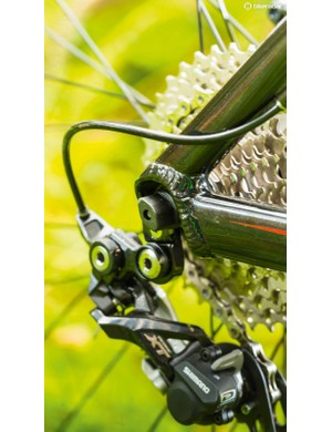 The Shimano Deore chainset lets you put the power down