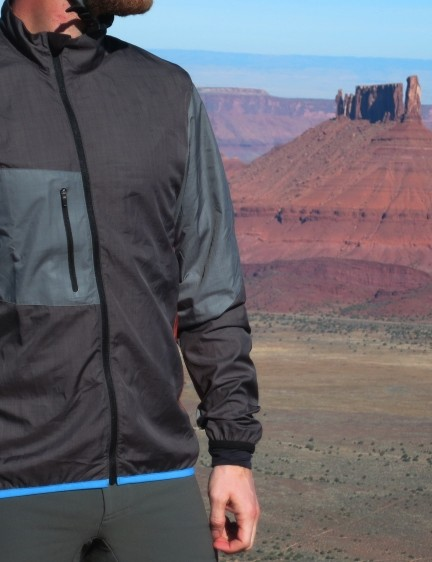 Kitsbow's Wind Jacket is a lightweight, packable shell