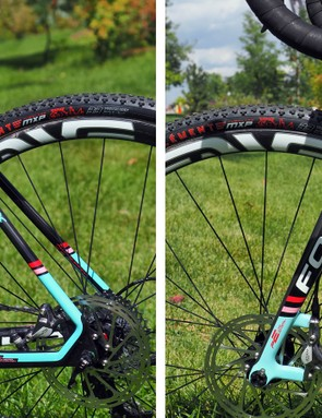 Slim seatstays and fork blades suggest a smooth ride