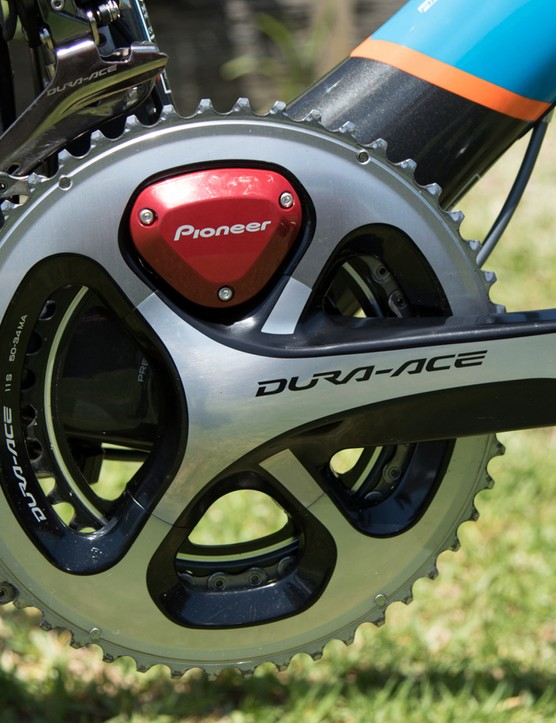 For 2015, the Avanti Racing Team is sponsored by Pioneer. The Pioneer power meter bonds straight to Shimano Ultegra and Dura-Ace 11-speed cranks