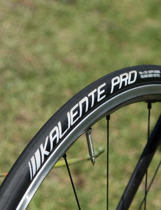 Gough's Dura-Ace C24 'everyday' wheels feature 23c Kenda clinchers
