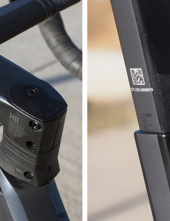 Even the seatpost and integrated cockpit get the squared-off treatment