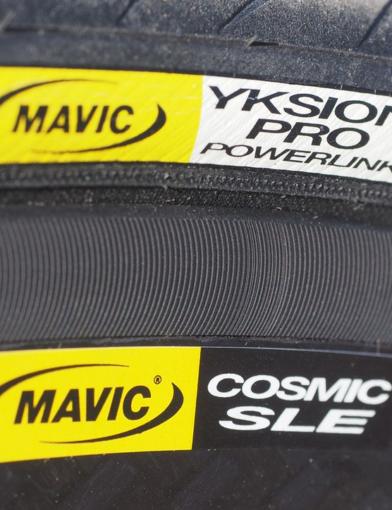 Mavic's second-generation Exalith 2 sidewall treatment is far less noisy than the original but does offer excellent braking performance, particularly in the wet