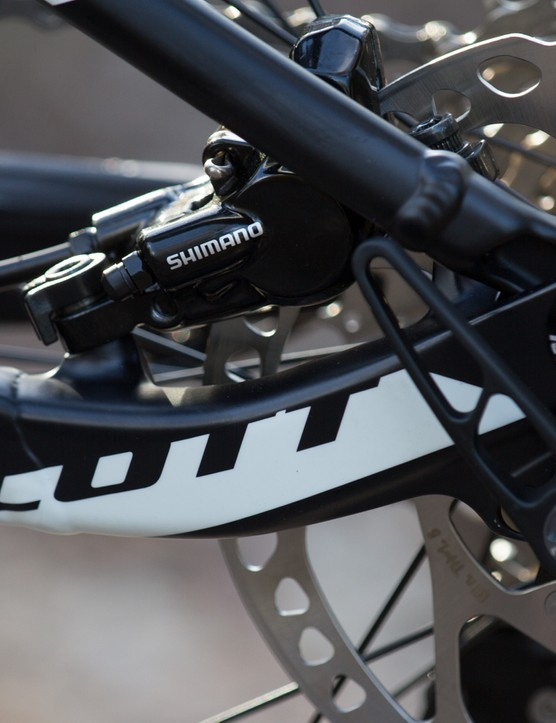 The Spark's frame lines are very clean. We love how this brake is tucked away with minimal material added to host it
