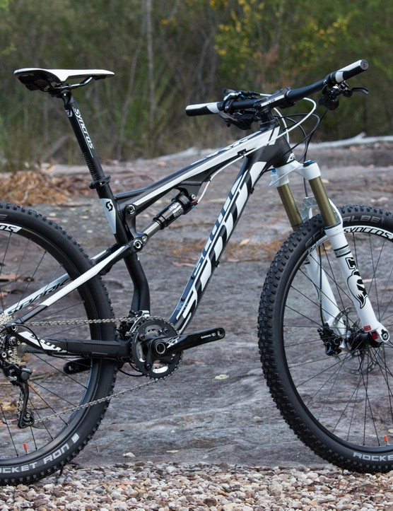 The 2015 Scott Spark 740 is equally as capable in a marathon race as it is on the trail