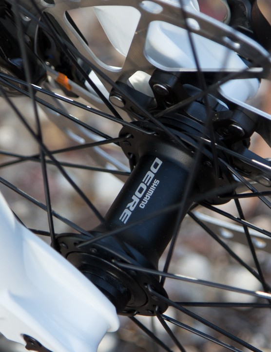 Shimano hubs will prove durable with regular maintenance - but they aren't lightweight
