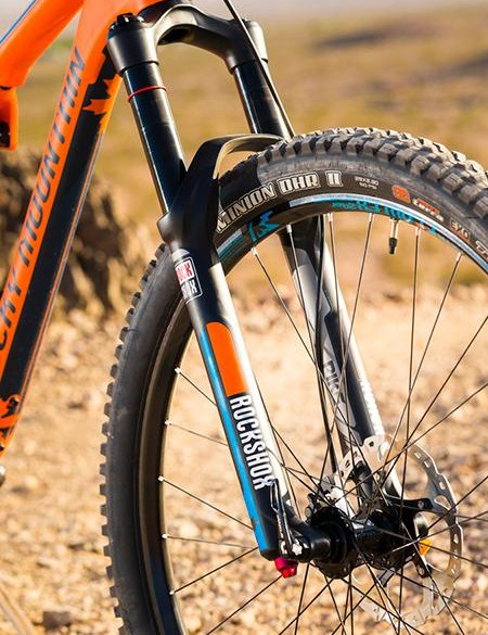 It also gets a 10mm longer RockShox Pike fork, which slackens the head angle