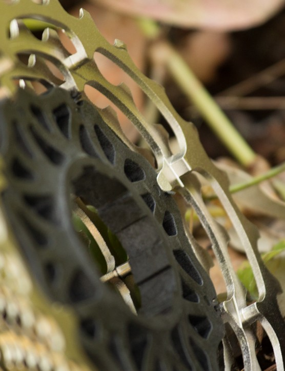 The largest cog is offset from the freehub spline, thereby making room for an eleventh cog