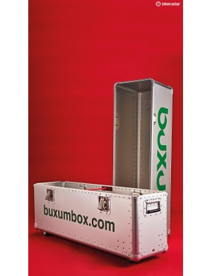The Buxum development team tested the durability of the 0.5mm skin by blasting it with a shotgun – no shot pierced the box
