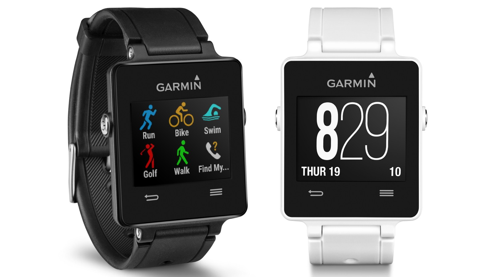 The Garmin Vivoactive is a GPS-enabled smartwatch with built-in sports apps