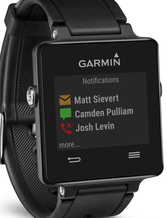 When paired with a smartphone, the Vivoactive provides notifications from email, phone, apps and more