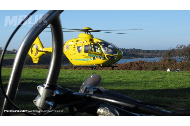 Where would we be without these guys? Air Ambulance to the rescue!
