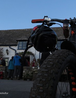 There's only one way to finish off a superb day on the bikes - the pub!