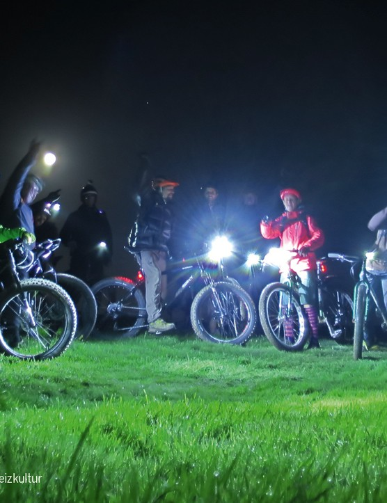Possibly the safest kind of bike for nightriding, because you can hear them long before you can see them!
