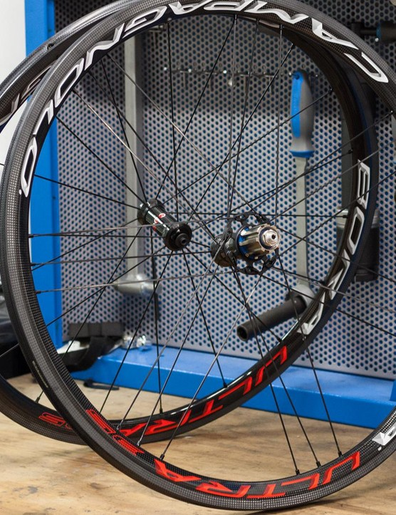 Campagnolo's Bora 35 tubulars are light, stiff and great looking