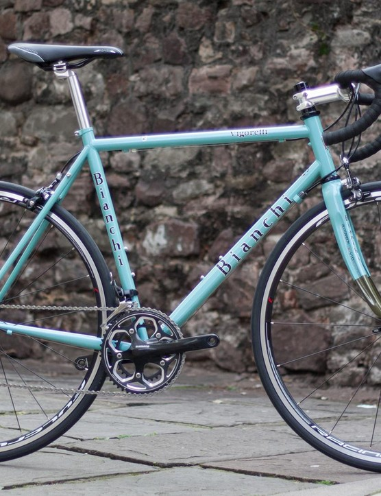 The Bianchi Vigorelli frame looks nice, but the 105 spec detracts from the Italian heritage styling