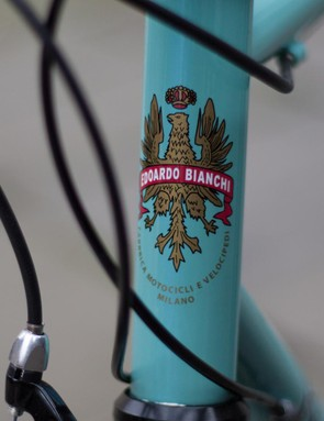 The classic head tube logo