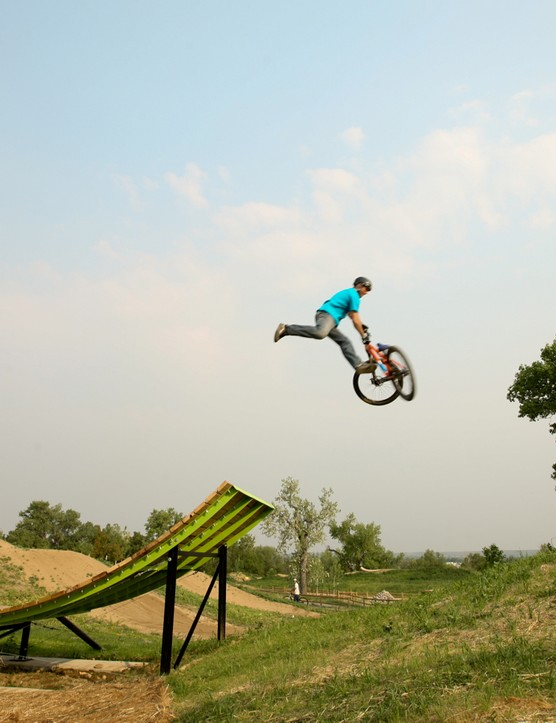 Another goal for 2015: More air time. Boulder's Valmont Bike Park is four minutes away and has plenty of air-assist options