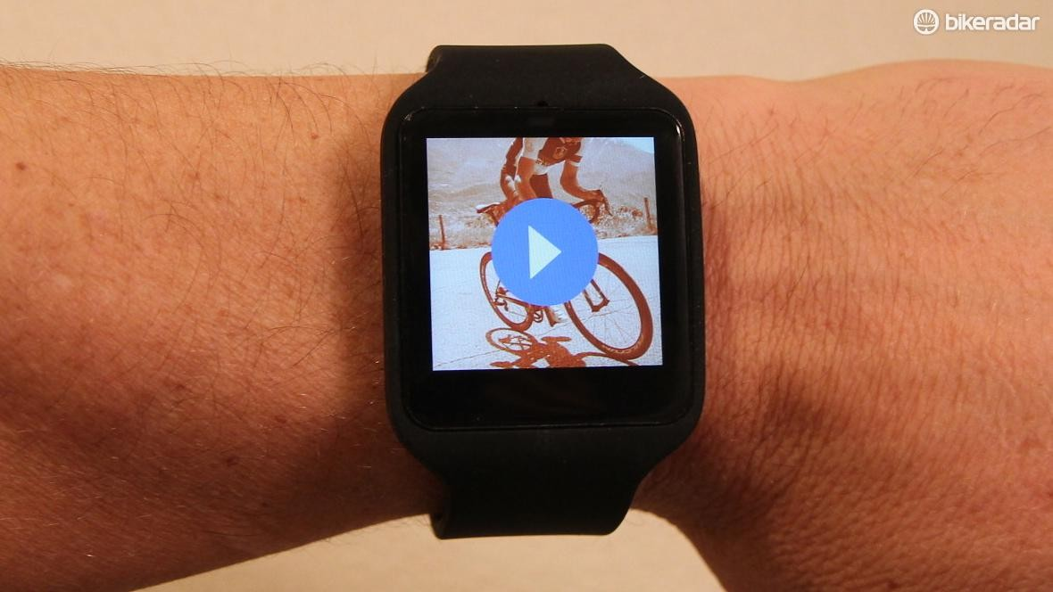The Sony SmartWatch 3 pairs with Android smartphones and relevant apps, like Strava