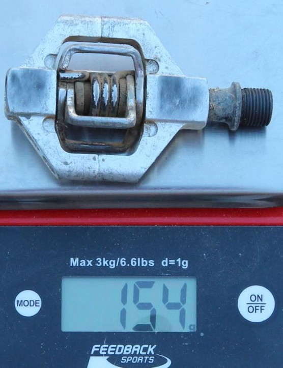 Our Candy 2 pedals weighed 154g each, or 308g for the pair. That's a little shy of the 324g stated by Crankbrothers