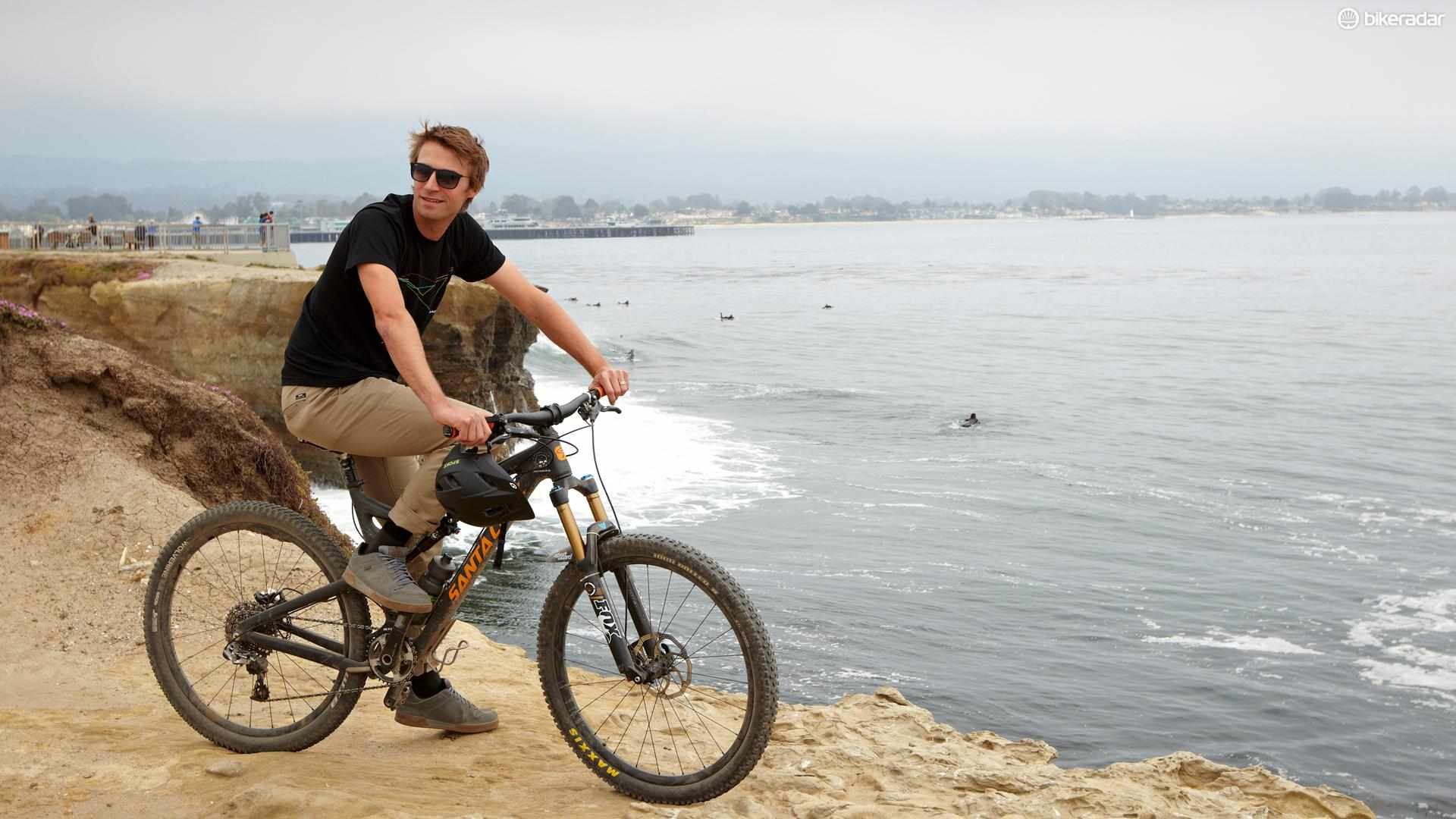 Dain Zaffke, Marketing Director of Giro Sport Design, in Santa Cruz, California