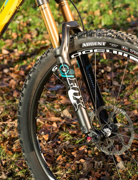 The Fox 34 fork is a smooth performer though can be prone to flex